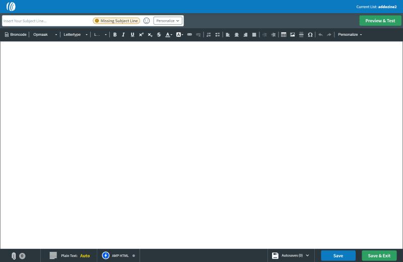 Aweber HTML Editor